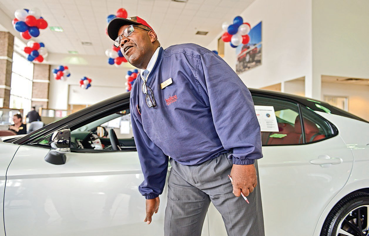 Anthony Gray, A Salesman At Haley Toyota, Says Customers Are Shopping For  New Cars