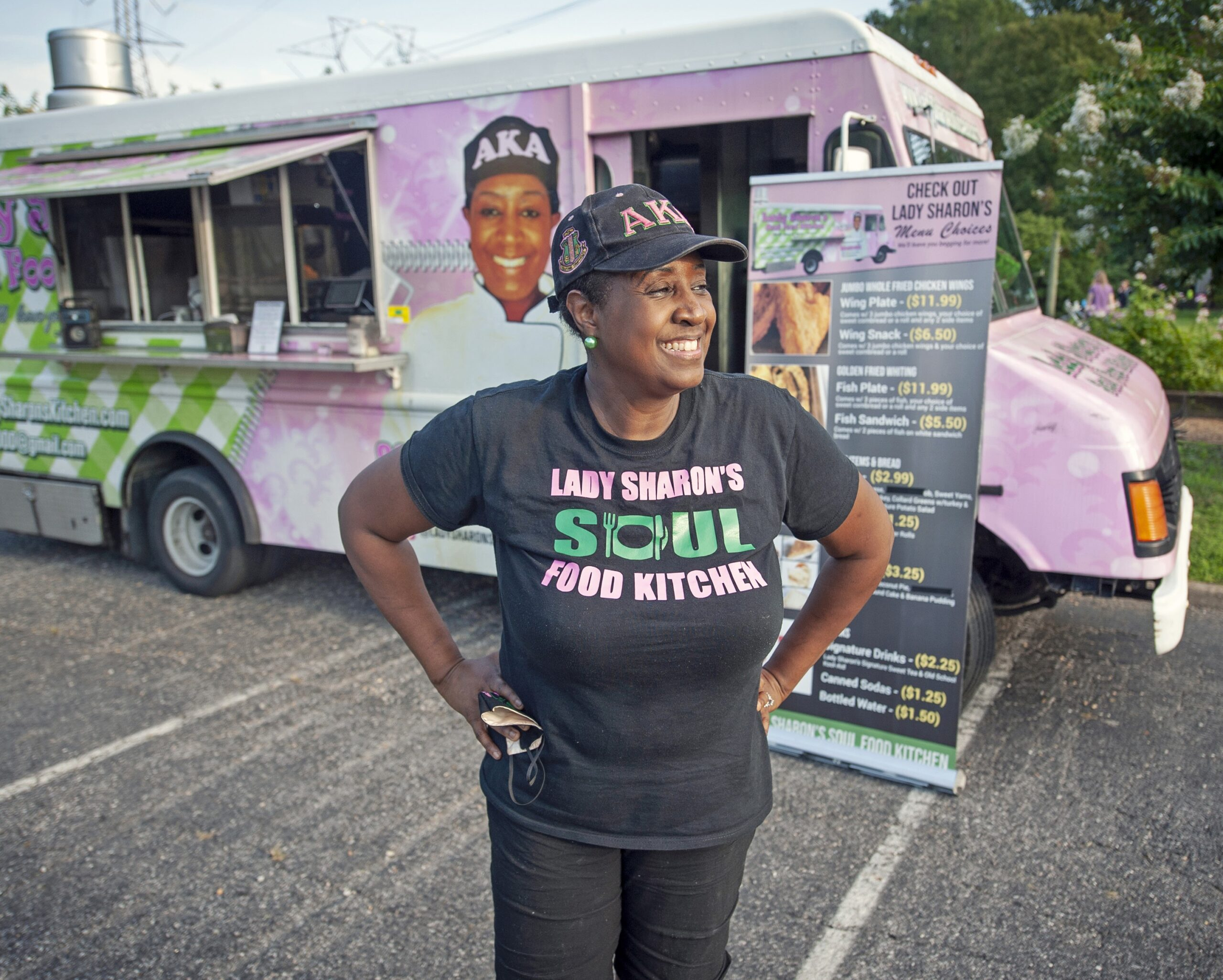 During the pandemic, Sharon Williams, owner of Lady Sharon's Soul Food Kitchen, pivoted to suburban neighborhoods such as Queensmill to keep her food truck business afloat. ASH DANIEL