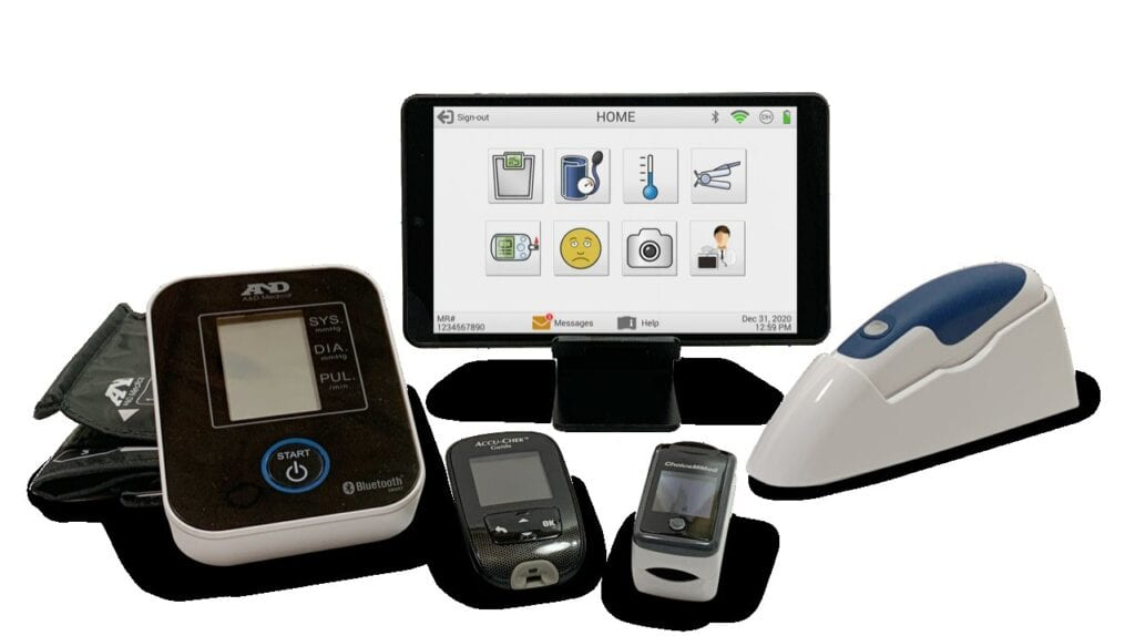 Midlothian-based Remote Health Solutions' eVer Home Kit and accessories allow for patients to be remotely monitored from afar. PHOTOS COURTESY OF REMOTE HEALTH SOLUTIONS