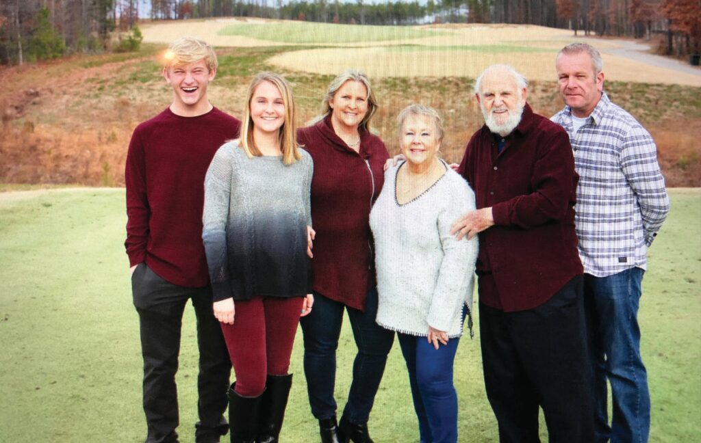 Living under one roof saved money, and drew the McArdle and Sherry family closer together. From left: Liam and Ashlyn McArdle, their mom, Jennifer, Karen and Donald Sherry, and Declan McArdle. COURTESY OF JENNIFER MCARDLE